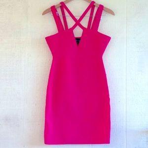 NBD Choose Me pink cut out bodycon dress